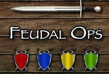 Feudal Ops boardgame in Battlegrounds Gaming Engine / Screenshots from one of the many games that can be played using my BGE virtual tabletop software