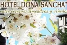 Hotel Doña Sancha / Web del hotel con toda las fotos de las instalaciones y habitaciones. Explicaciones de lo que se puede ver o hacer en la zona de Covarrubias.