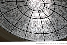 Leaded Glass Dome Ceilings / For more leaded glass domes check out our web site.  http://solariumglassdomes.com/ / by SDG Domes