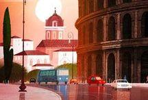 Illustrations de villes et pays... lieux / by Monique Chartrand