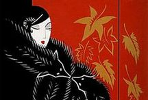Erté  artist and designer 1892 / Romain de Tirtoff (23 November 1892 – 21 April 1990) was a Russian-born French artist and designer known by the pseudonym Erté, from the French pronunciation of his initials (pronounced: [ɛʁ.te]). He was a diversely talented 20th-century artist and designer who flourished in an array of fields, including fashion, jewellery, graphic arts, costume and set design for film, theatre, and opera, and interior decor.