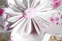 Paper Lace and Pearls Creations / Gorgeous décor, for your Wedding venue and Paper Flower Bouquets, available to order on Facebook at Paper Lace & Pearls.