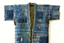 Boro-Sashiko / Sashiko is a traditional form of Japanese hand sewing that uses a simple running stitch sewn in repeating or interlocking patterns. Boro fabric, a Japanese style of repair common pre-20th century.