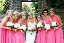 BRIDAL PARTY / Some of our bridesmaids, mothers, or flower girl dresses and ideas for the bridal party (gifts, flowers, photos, etc)!