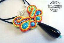 Trix Accessori's handmade jewels / Soutache, macrame, shrink plastic jewels