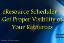 eResource Scheduler - Presentations / Collection of presentations made by Enbraun's which explains the various concepts related to resource management and its widespread use in business firms.