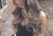 Hair Goals / Long hair, wavy hair, curly hair, bobs, beachy waves, beautiful colors, and hair styling tips.