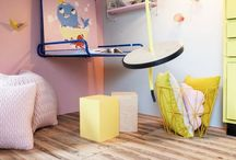 Style Your Home | Kids Spaces / Fun, bright, colorful, happy spaces for kids. Children's rooms, bedrooms, play spaces, homeschool areas, playrooms, nurseries, bunk beds, minimal, cute, unique ideas for decorating kids rooms, fun backyards.