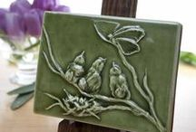 Motif spotlight: birds / Ephraim Pottery's bird-themed pottery and tiles make great gifts bird lovers! Each piece is made by hand in Wisconsin.