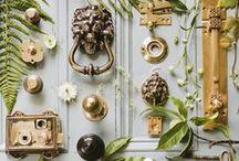 Unusual Ironmongery / Ironmongery, antique door knobs and interesting knockers and door furniture.