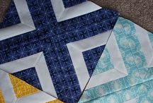 Q - Patchwork squares / Sample blocks, project ideas and designs, generally machine based