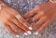 jewels / Currently coveting rose gold EVERYTHING, minimalist layering, dainty studs, arm stacking, and ear cuffs seem right to us for summer