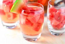 liquid lunch / Mocktails. Juice. Grown lady drinks.