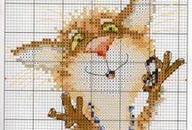 Cross Stitch: Cats / Cross stitch cats...., art, drawings