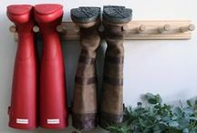 Boot Room / Welly tidies, boot racks, mats, door stops, storage and inspirational boot room ideas.