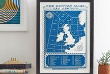 Screen Prints and Posters / Gorgeous graphics and illustration on interesting prints and posters.