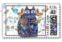 Postage Stamps Cats