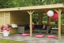 Overkapping Veranda / Overkapping verlengen de tijd die u kan doorbrengen in de tuin. Gezellig met familie en vrienden tafelen in een beschutte omgeving.