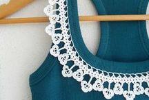 Crochet con stoffa