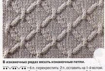 Knitting, structure and cable patterns