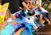sensory & messy play .......  toddlers