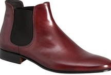 """Phantom Cherry"" by Pete Sorensen / The Phantom is a dandy shoes inspired sixties, seamless design. This is a chelsea boot in full grain superior calf leather. Fully lined in black matte leather on the inside, it has a cushion in the heel (2 cm). Sole design without overhangs makes the Phantom the perfect rock-chic boots day or night."