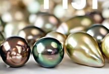 """Colours of Fiji / Our """"Fiji"""" colours reflect the unique habitat of Savusavu Bay where J. Hunter's pearl farms are located. Our pearls come in rich warm hues of gold, copper, champagne, pistachio, cranberry, and chocolate. Our cool hue palette is made up of deep blues and vibrant greens ."""