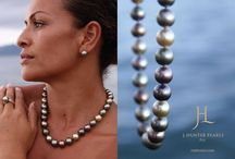 """J. Hunter Classic Collection / Our signature collection of fine jewelry puts the """"Fiji"""" hued pearls front and center. Our pieces are thoughtfully designed to showcase the singular beauty and uniqueness of each pearl.  Our J.Hunter Classic collection is available at J.Hunter boutiques in Fiji (Savusavu town and Grand Pacific Hotel in Suva), Prouds stores throughout Fiji and select boutique resorts."""