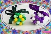 A Colorful Christmas / Colorful handmade Christmas ornaments and jewelry