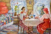 Russian tea art