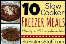 Slow Cooker/Crockpot Meals / These are pins of recipes for all manner of meals that can be made in a crock pot or slow cooker. Breakfast, lunch, dinner, dessert, drinks, snacks and everything in between.