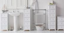 White Bathroom Furniture / Many pieces of white bathroom furniture for storage from The White Lighthouse