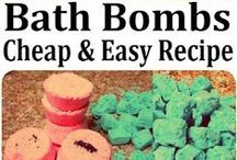Homemade DIY beauty products / These are mostly recipes for organic and/or natural beauty products, such as bath bombs, scrubs, and lotions.