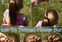 Kids hair anyone can do / This pin has directions, instructions, and tutorials for hair styles you can do for your kids. Braids, twists, pony tails, and more are featured.