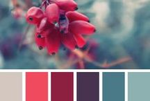 teal and berry color scheme