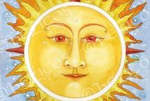 sun faces / I have always loved CBS Sunday Morning! It is one of my favorite shows! I have especially always loved their sunfaces! I want to have a big sun face painted on the side of the chicken coop! / by SugarCreekCottage