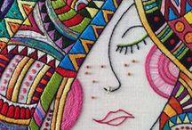 Embroideries / Broderier av olika slag