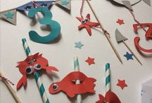Rio'sBirthday / Set design décoration requins poissons