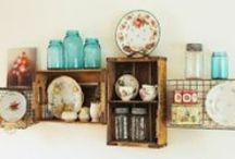 Creative Shelving / Creative shelving ideas that will turn your bare wall into a wonderful place to store your things and look at.