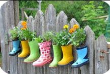 Creative Gardening / These creative DIY gardening ideas will have you growing vertically and gardening on your walls, rooftops, tables, and even in the driveway.