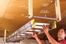 Garage Organization Tips, Ideas and DIY Projects / Awesome organizational tips and trick for your garage. Space saving and smart ideas.