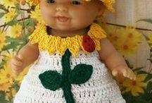 lalki ubranka szydełkowe