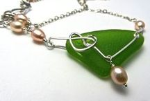 Jewelry by DesigningIt / Sea glass, copper, sterling silver~~All handcrafted jewelry