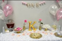Gold Pink and White Princess Party / visit www.whiskingmama.com for full instruction and links to all the beautiful ideas!
