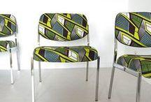 Chaises et fauteuils en tissus africains