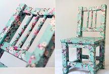 Möbel mit Décopatch / Mit unseren Décopatch-Papieren können Sie alte Möbel wieder aufpeppen, oder einfach nur umgestalten. Lassen Sie Ihrer Kreativität freien Lauf.
