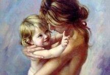 Дети с родителями / О детях и о родительской любви и заботе