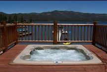 Cool Cabins with Hot Tubs / Soak in the beauty of Big Bear from one of our Cool Cabins with a beautiful hot tub.