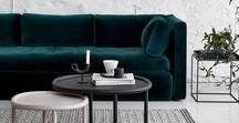 2018 Interior / Forest green, midnight blue, gold, velvet, botanic, minimalistic, luxury