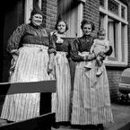 Germanic Dutch: NL Volendam B/W / Black and white photographs of Dutch Traditional Costumes of Volendam